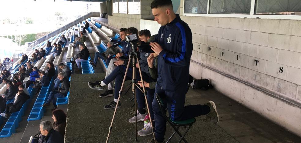 El juvenil Barra ejerce de operador de cámara
