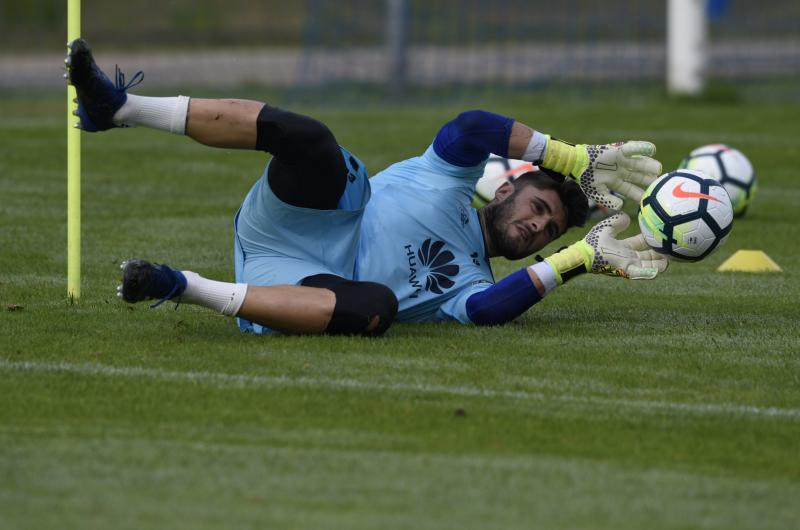 Entrenamiento del Real Oviedo (21/09)