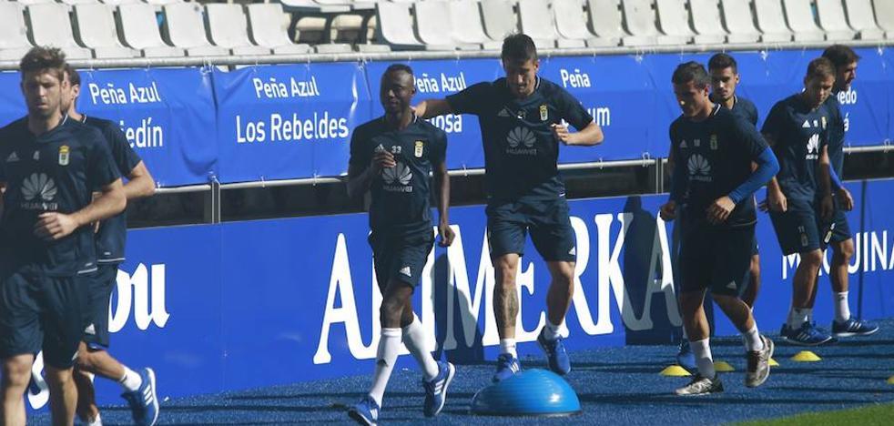 Real Oviedo | La plantilla completa una última sesión antes de enfrentarse al Zaragoza
