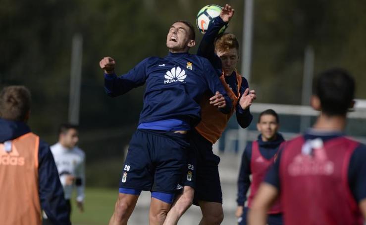 Entrenamiento del Real Oviedo (18/10/17)