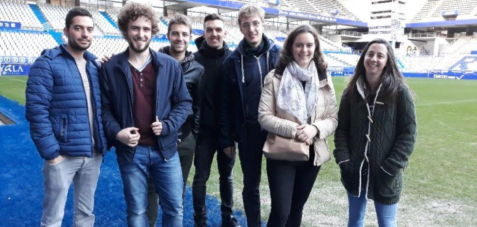 Estudiantes de Erasmus en el Carlos Tartiere