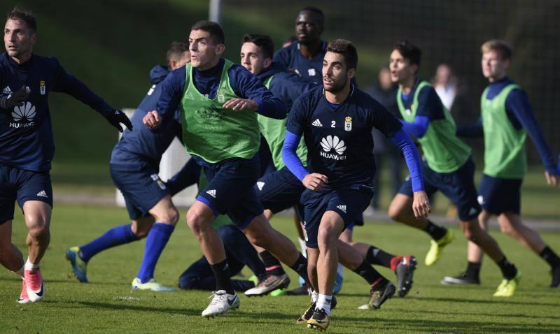Entrenamiento del Real Oviedo del 7 de diciembre de 2017