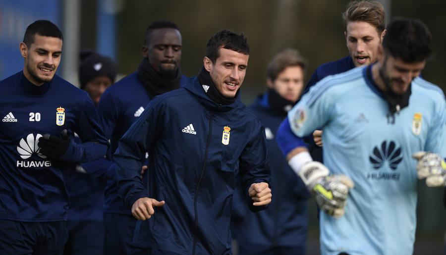 Entrenamiento del Real Oviedo (15-12-2017)