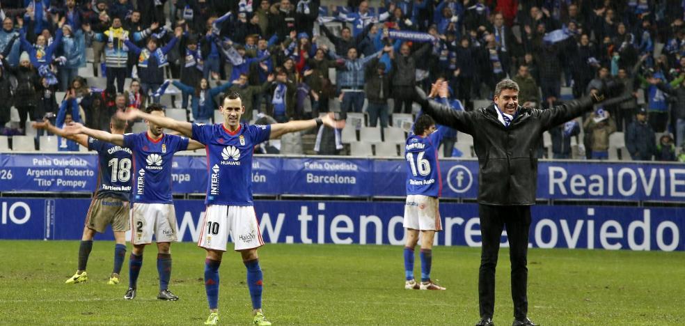 La 'Viking clap', el baile de celebración del Real Oviedo