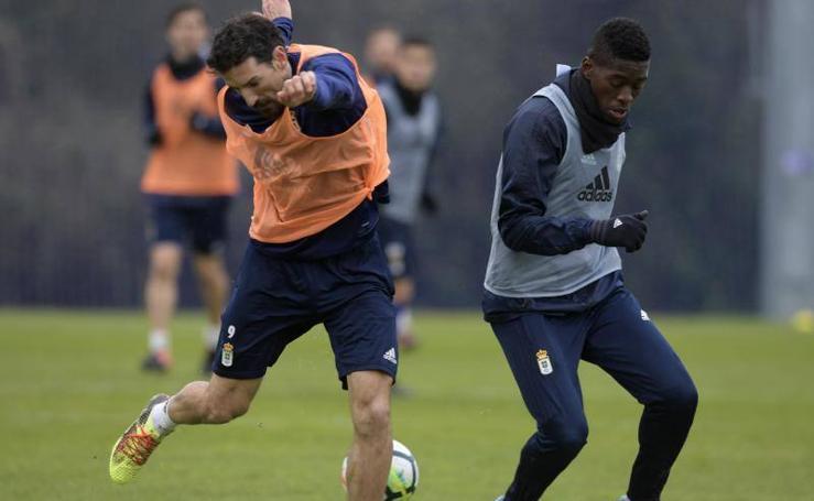 Entrenamiento del Real Oviedo (13/02/2018)