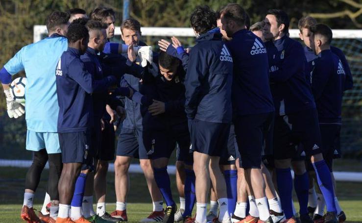 Entrenamiento del Real Oviedo (12/03/2018)