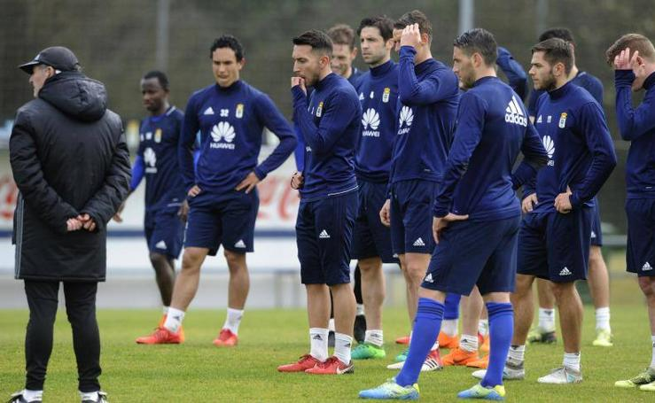 Entrenamiento del Real Oviedo (13/03/2018)
