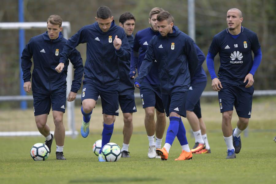Entrenamiento del Real Oviedo (16-03-2018)