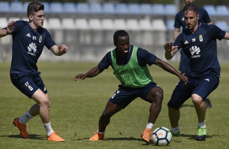 Entrenamiento del Real Oviedo (19/04/18)