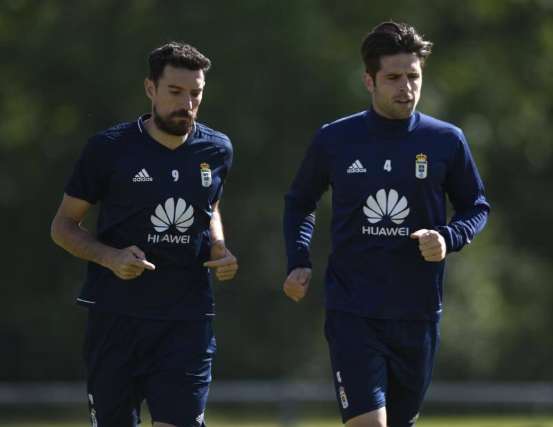 Entrenamiento del Real Oviedo del 4 de mayo de 2018