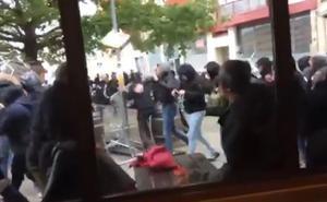 Dos aficionados azules citados a declarar por «riña tumultuosa» y «alteración pública» en Pamplona