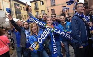 En directo: El Real Oviedo, arropado por su afición en el Reino de León