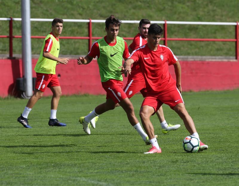 Entrenamiento del Sporting (11/07/2017)