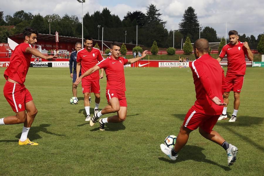 El Sporting se entrena en Mareo