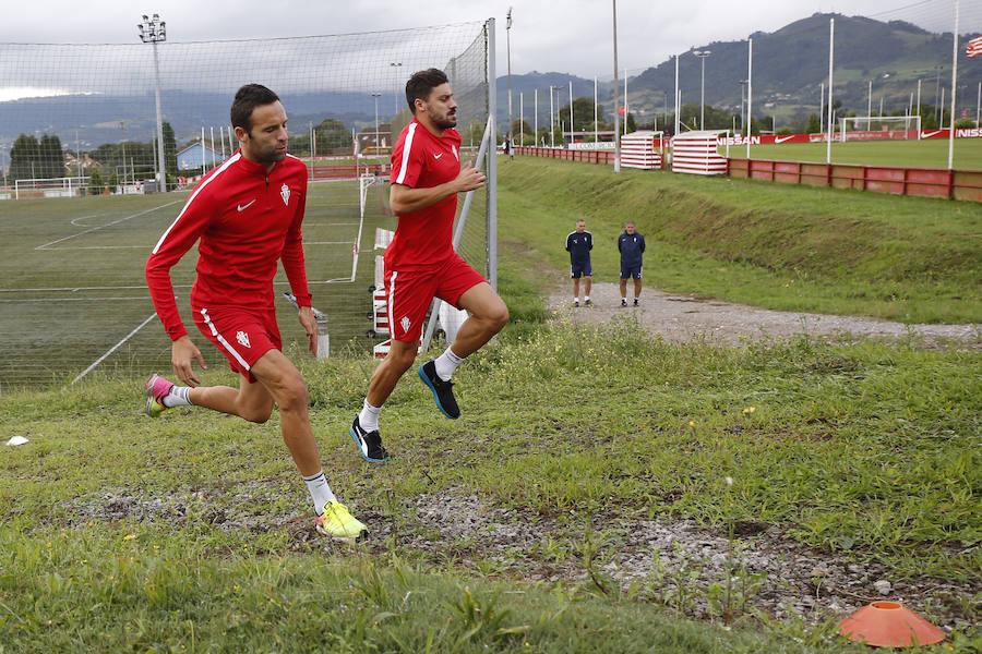 Entrenamiento del Sporting (08-08-2017)