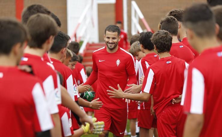 Entrenamiento del Sporting (15/08/17)