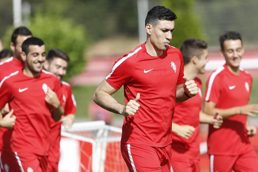 Entrenamiento del Sporting (16-08-2017)