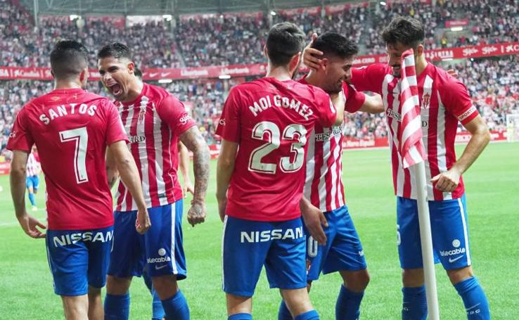 Las mejores imágenes del Sporting - Lugo (2-0)