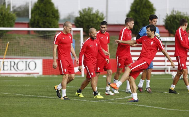 Entrenamiento del Sporting (29-8-17)