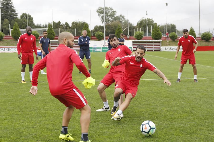 Entrenamiento del Sporting (30-08-17)