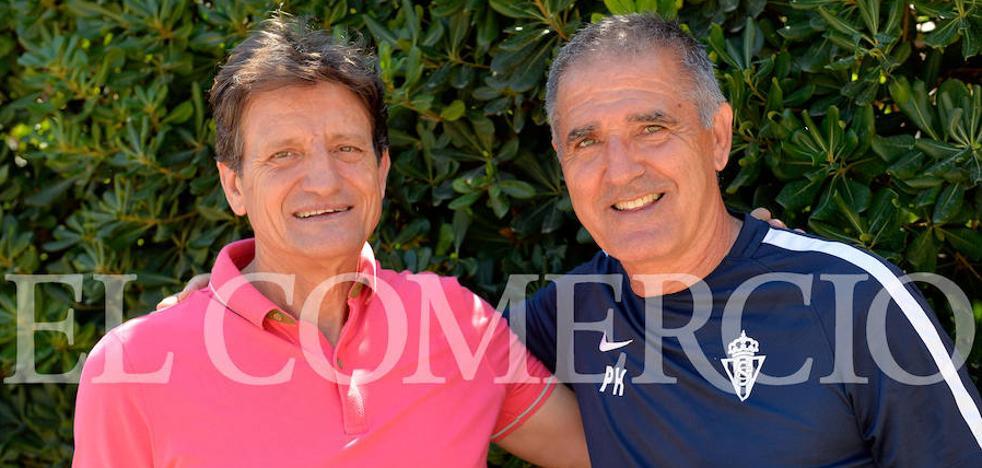 Herrera se reencuentra con Manolo González, su hermano en el fútbol
