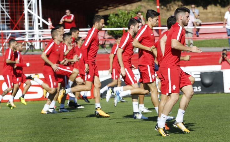 Entrenamiento del Sporting (13/09/17)