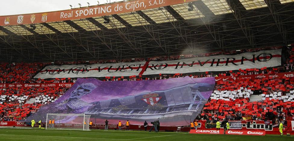La Liga denuncia los cánticos de la afición del Sporting en el partido contra el Oviedo
