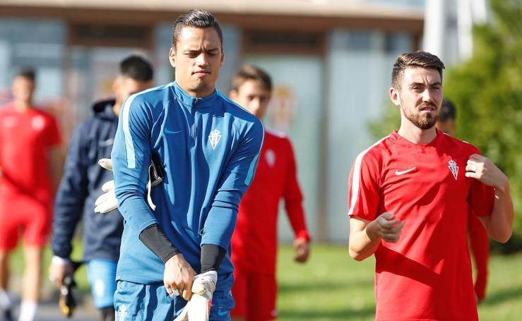 Entrenamiento del Sporting (14/09/17)