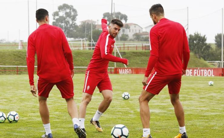 Entrenamiento del Sporting (30/09/17)