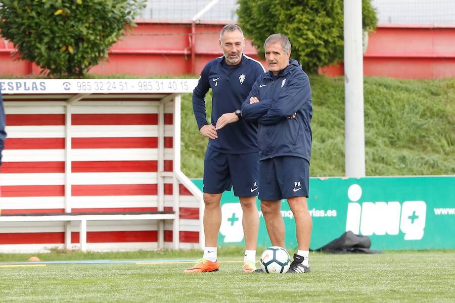 Entrenamiento del Sporting del 3 de octubre de 2017