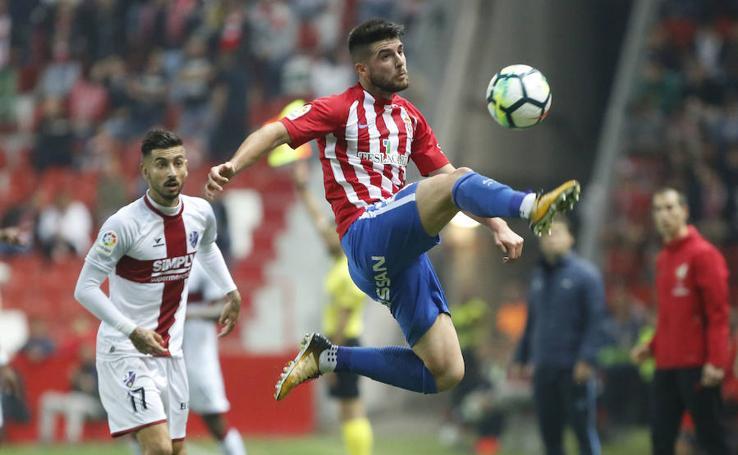 Sporting 1 - 1 Huesca, en imágenes