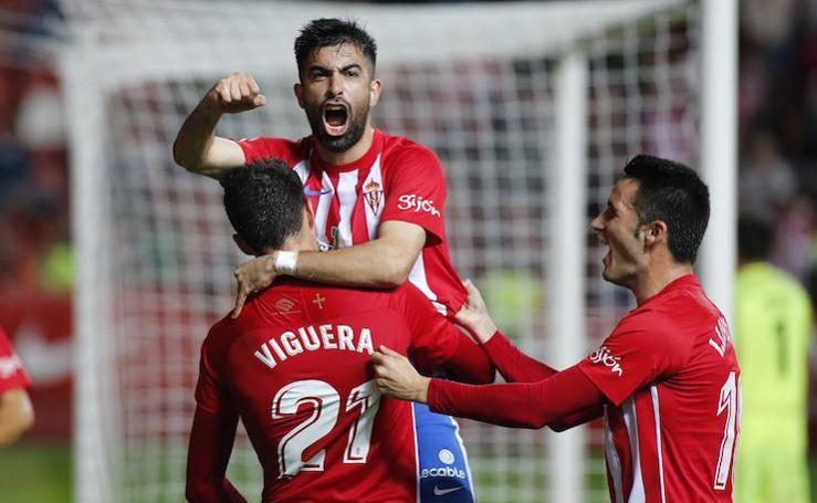 Las mejores imágenes del Sporting - Almería