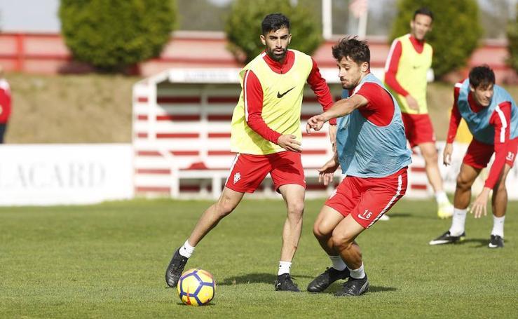 Entrenamiento del Sporting (31/10/17)