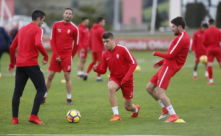 Entrenamiento del Sporting (09/11/2017)