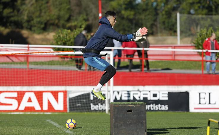 Entrenamiento del Sporting (15-11-17)
