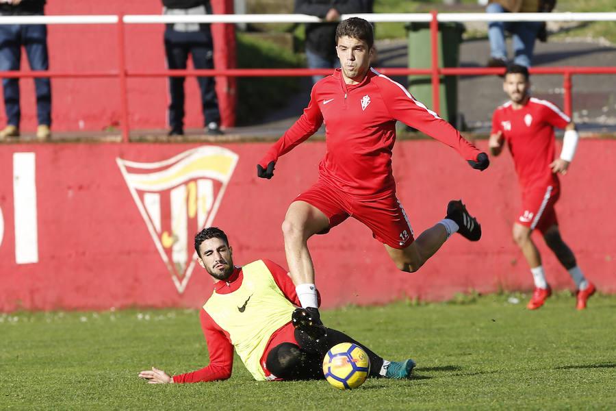 Entrenamiento del Sporting del 14 de diciembre de 2017