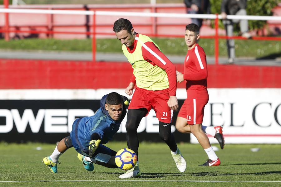 Entrenamiento del Sporting (30/12)