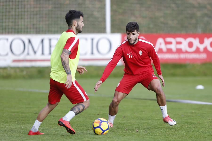 Entrenamiento del Sporting (31/12)