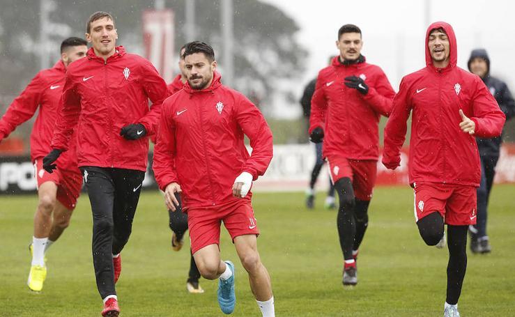 Entrenamiento del Sporting (07/01/2018)