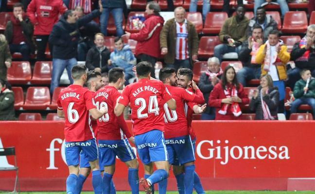 El Sporting - Alcorcón, en imágenes
