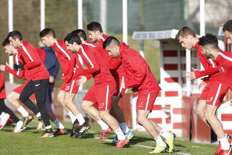 Entrenamiento del Sporting (18-01-2018)