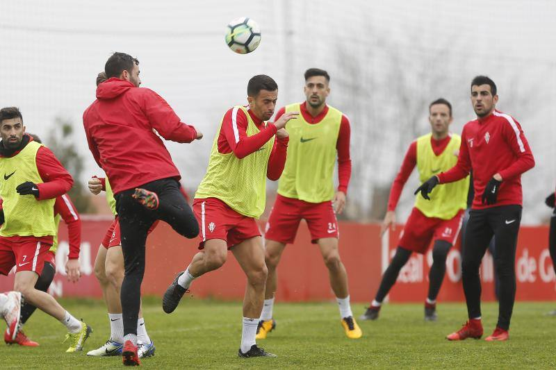 Entrenamiento del Sporting (16/02/18)