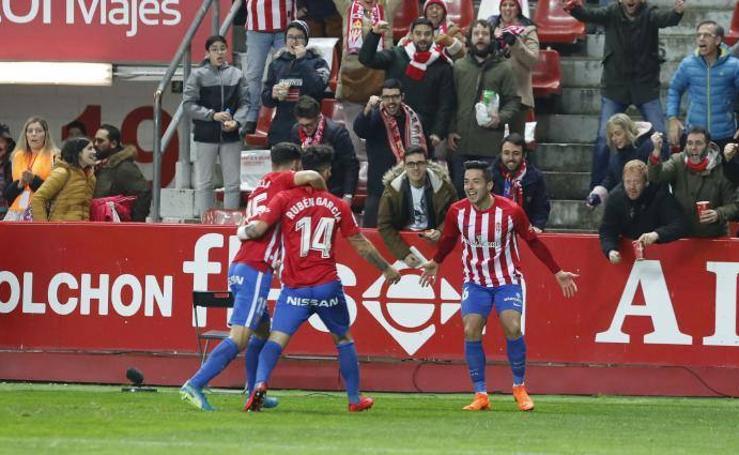 Sporting 2-0 Osasuna, en imágenes