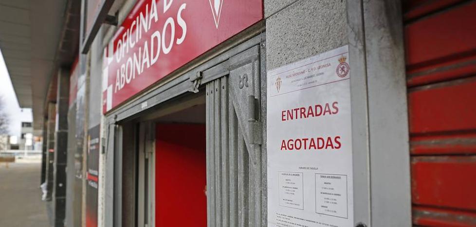 El Molinón cuelga el cartel de 'no hay billetes'