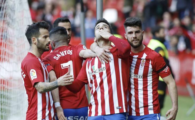 Sporting 4 - 0 Cultural Leonesa, en imágenes