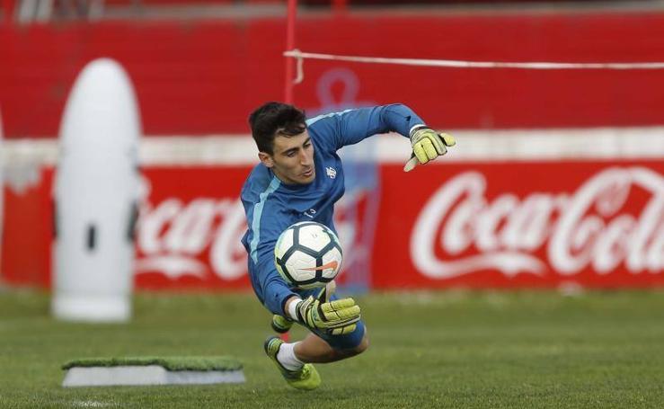 Entrenamiento del Sporting (12/03/2018)