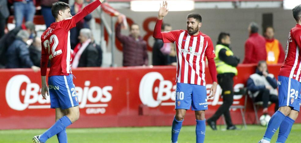 «Le dedico el gol a Quini y a mi familia por el apoyo»