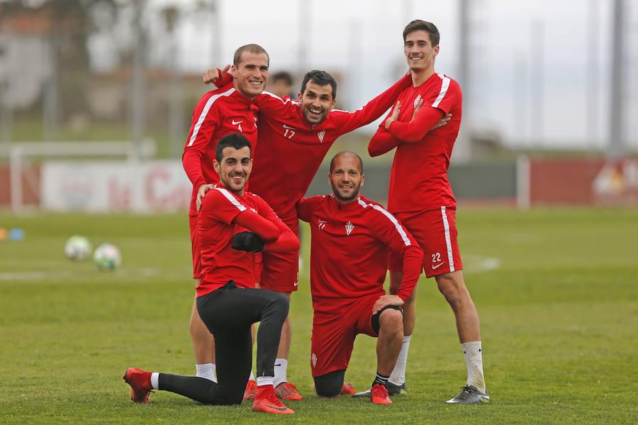 Entrenamiento del Sporting (14-03-2018)
