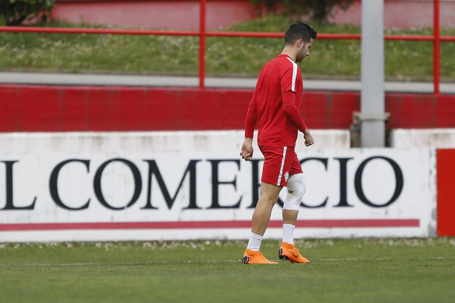 Entrenamiento del Sporting (15-03-2018)