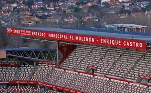 El Molinón ya incorpora el nombre de Enrique Castro